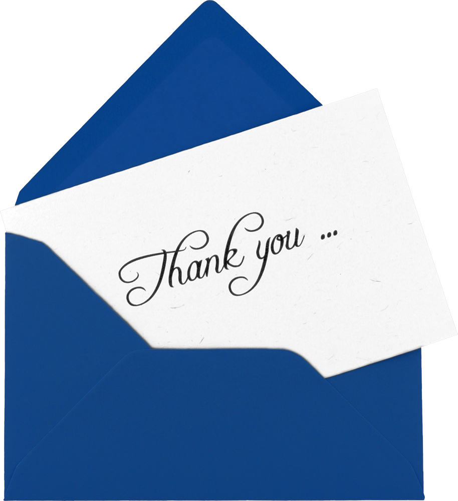Thank You Note from Our Clients